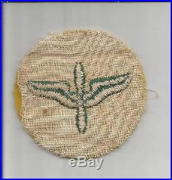 Super Rare Green & Yellow WW 2 US Army Air Forces Cadet Patch Inv# S868