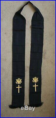 Superb Wwii Vietnam Era Us Army Chaplain Stole Sash Excellent Re Enactment