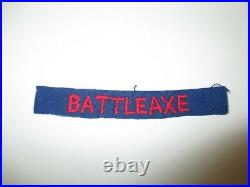 TT203 WW2 US Army Battle Axe Tab Worn Under 526th Armored Battalion Patch WB4