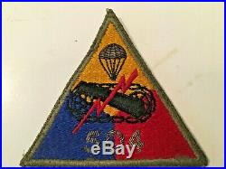 TT205 WW2 US Army Armored Tank Battalion Patch Hand Embroidered Bullion 504 WB4