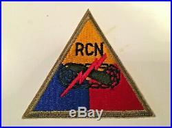 TT216 WW2 US Army Armored Tank Battalion Patch Recon RCN WB4