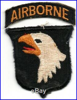 TYPE 4 101ST AIRBORNE US ARMY PATCH WWII WW2 With TAB LOT ORGINIAL
