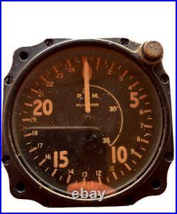 Tachometer, Chronometric, Type C-7, WWII, Air Corps US Army
