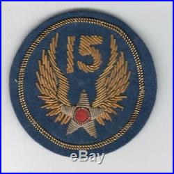 Theater Made WW 2 US Army 15th Air Force Bullion Patch Inv# Z765