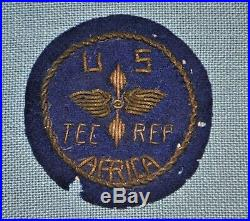Theatre Made WWII U. S. Army Air Forces Tec. Rep. Africa Bullion Patch