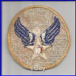 Twill Reversed Color WW 2 US Army Air Force Patch Inv# S954