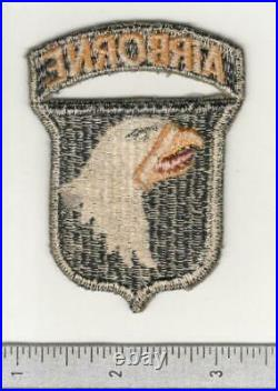 Type 7 WW 2 US Army 101st Airborne Division Patch Attached Tab Inv# C151