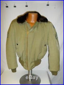 U3B-115 WW 2 US Army 6th Calvary Regiment Winter Flight Jacket Sergeant