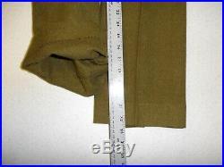 U3B-116 WW 2 US Army & Air Force OD Wool Field Service Trousers size 36 x 32