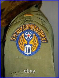 U3B-118 WW 2 US Army 10th Air Force B-15A Flying uniform sz 38 2nd Lt Commandos