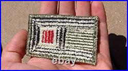 US 1st ARMY WW2 PATCH SSI Engineer Corps Color Insert Insignia Cut Edge