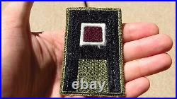 US 1st ARMY WW2 PATCH SSI Medical Corps Insert Insignia Cut Edge Green Back