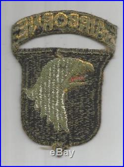 US Army 101st Airborne Division Greenback Patch With Attached Tab Inv# JR706