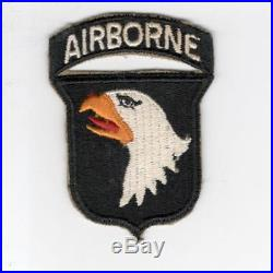 US Army 101st Airborne Division White AIRBORNE Patch With Attached Tab Inv# JR593