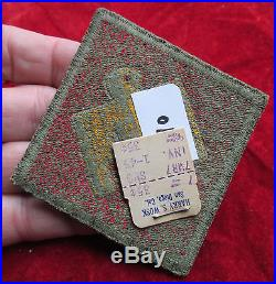 US Army 45th Infantry Division patch with original store tag & OD Border
