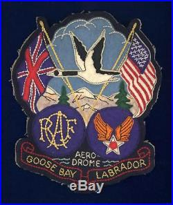 US Army Air Corps/RCAF-Goose Bay Aerodrome-large, multi-piece jacket patch-superb