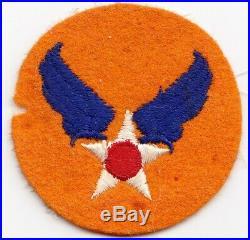 US Army Air Forces WW2 orange felt color variation