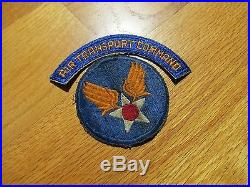 US Army Air Transport command patch lot Squadron Leather patch tab and smaller
