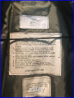 US Army M-1951 Field Jacket & Liner 4th Armored Division WWII Patch Medium Korea
