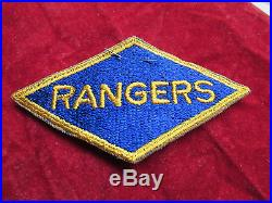 US Army Ranger Division patch with original retail label D Day