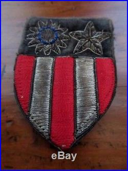 US Army World War II CBI China Burma India uniform embroidered sleeve patch WW2