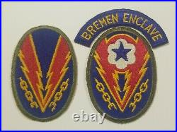 US Army vintage WW2 Original ETO Bremen Enclave European Theater lovely group