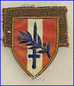 US Forces Austria Theater Made Bullion Patch US Army WWII P2662