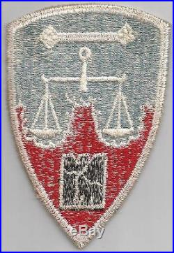 US Made Original US Army Nuremberg War Crime Trials Staff Patch Inv# F570