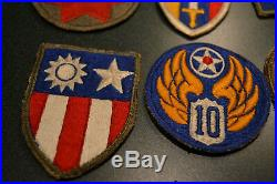 U. S. Army/ Air Corps Wwii Original Collection Of Us Gi Ww2 Patches And Pin