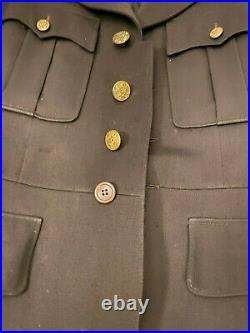 U. S. Army Officer's Dress Jacket, Cap, Patches, Crests, Captain, WW2, Medical