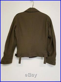 U. S. WWII WW2 1944 Army Enlisted Men's Uniform Ike Jacket With Patches Size 34R