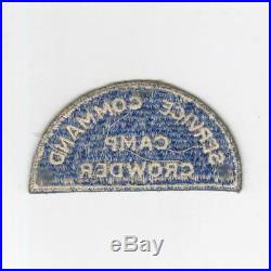 Ultra Rare WW 2 US Army Camp Crowder Service Command Patch Inv# H731