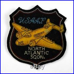 Us Army Air Forces Usaaf North Atlantic Squadron Canadian Made Patch Felt Bomber