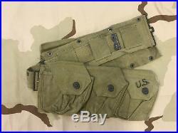 Us Army M-1937 Ww II B. A. R. Belt Dated 1941 Froehlich Mfg