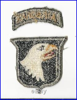 Us Army Patch 101st Airborne Division Seperate Tab Original Wwii