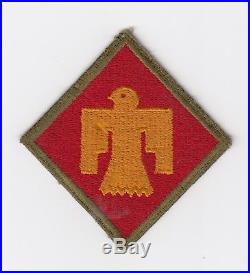 Us Army Patch 45th Infantry Division Od Border Original Wwii