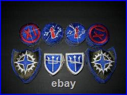 Us Army Ww2 Dealer Lot Of 160 Division Corps Theater Patches Cut Edge Snow Backs