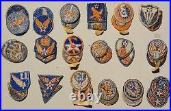 Us Wwii Army Air Force Original War Time Embroidered Set Of 18 Aaf Patches