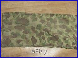 VINTAGE ORIGINAL WW2 US ARMY CAMOUFLAGE COVERALLS FROG SKIN 1940s 40s HBT