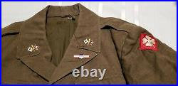 VTG U. S. WWII WW2 1944 ARMY ENLISTED MENS UNIFORM IKE JACKET withPATCHES SIZE 36L