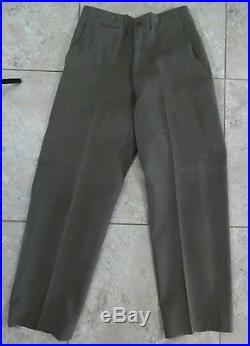 VTG WW2 US Army Uniform Sz36 Ike Jacket Patches Pants & Shirt USA Made