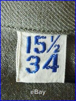 VTG WW2 US Army Uniform Sz 36 Ike Jacket Patches Pants & Shirt USA Made