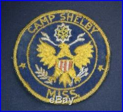 Very RARE WWII Era CAMP SHELBY Mississippi Twill Patch U. S. Army 442nd WAC