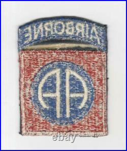 Very Rare WW 2 US Army 82nd Airborne Black Base Patch Attached Tab Inv# M828