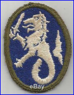 Very Rare WW 2 US Army Philippine Department OD Border Patch Inv# H438