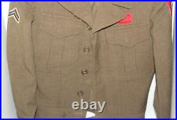 Vintage 1940s WWII US Army 82nd Airborne Ike Jacket 34 R withPatches