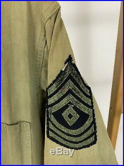 Vintage 1940s WWII US Army HBT Coveralls Patches 13 StarsSee measurements