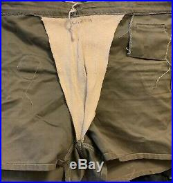 Vintage 40s WWII US Army Stencil E. T. O. Patch Training Bathing Suit Shorts Pants