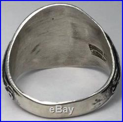 Vintage 6th Infantry Div. U. S. Army WW2 Sterling Pacific Theatre Ring (S61)