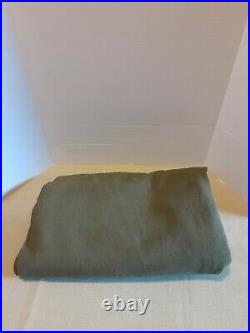 Vintage Military Blanket WW2 US Wartime Army Green Wool 69x80